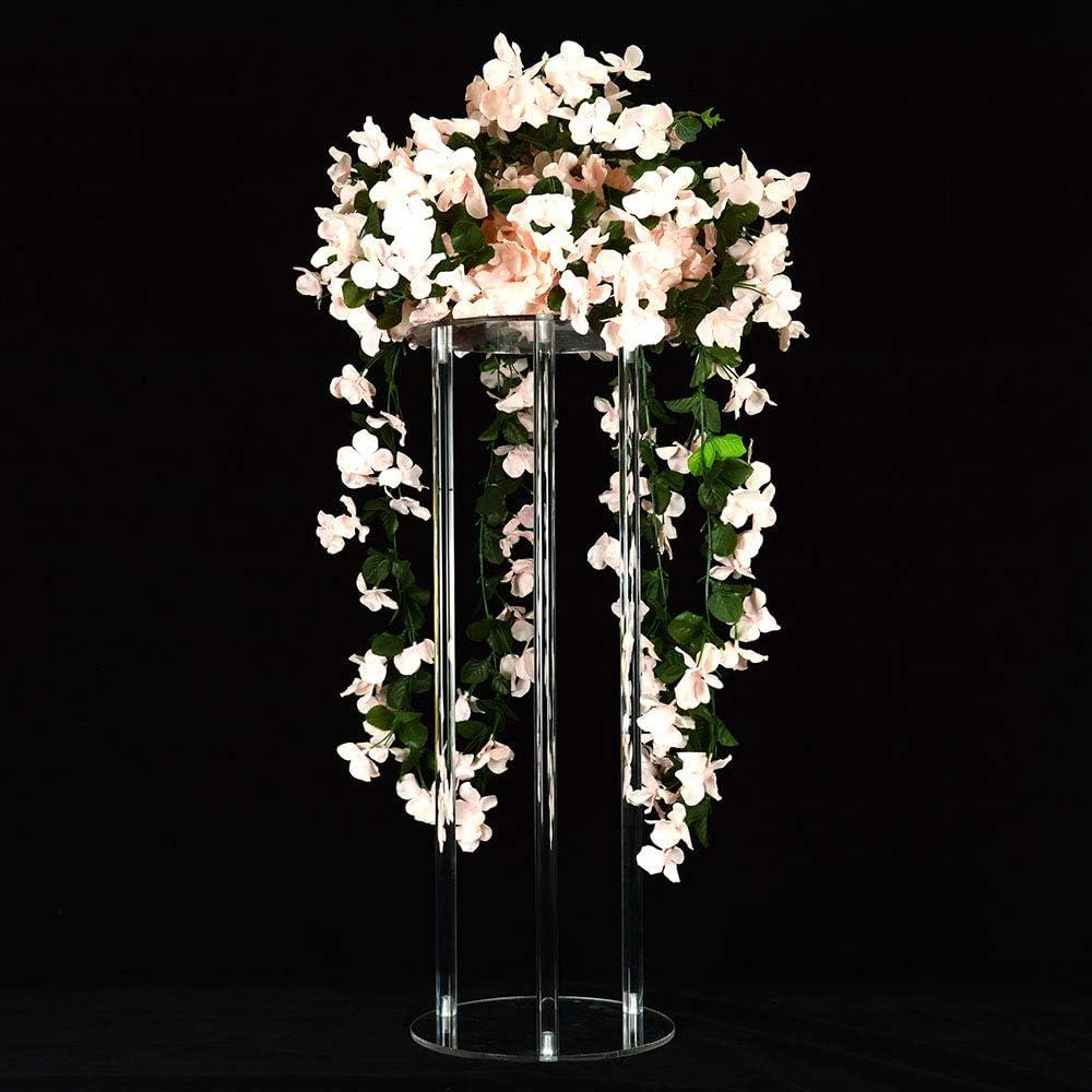 Amazon Com 10pcs Decorative Wedding Columns Pillars Acrylic Clear Wedding Flower Stands Bouquet Decorations Centerpiece Vase 80cm Tall Health Personal Care
