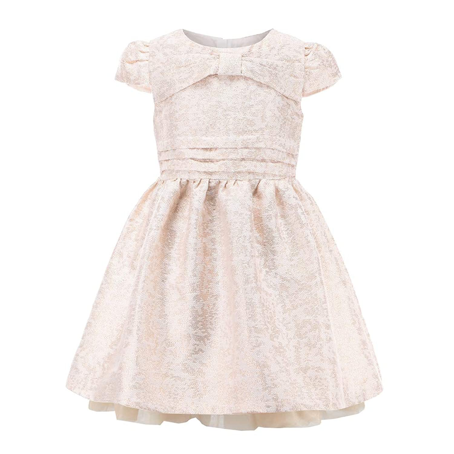 242cc8260 Top1: Champagne Gold Flower Christmas Girls Princess Party Dresses for Kids Girl  Clothes Dress 3-10 Years Old