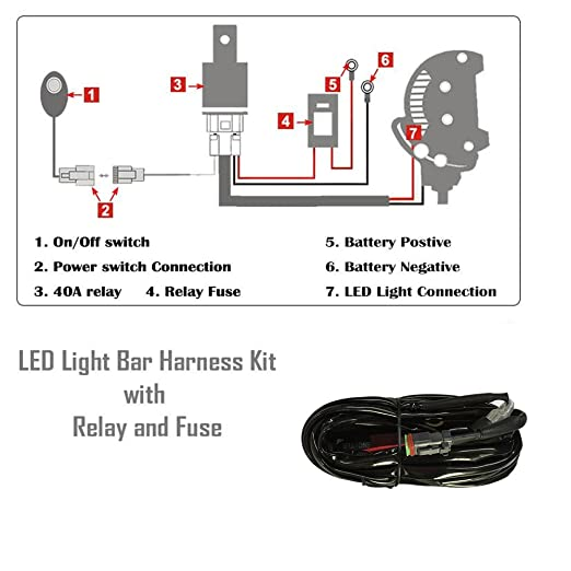 Amazon Nicoko Offroad Driving 120w 2022inch Straight Led Rhamazon: Stl Led Light Bar Wiring Diagrams At Taesk.com