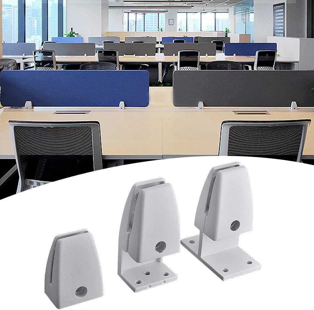 Privacy Screen Bracket HONUTIGE 2PCS Sneeze Guard Screen Clamps Desk Partition Support Office Desk Divider Clamp Durable Aluminium Alloy Destop Partition Clip Holder