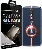 [COMBO] Moto G4 Plus Cover/Case + Free Tempered Glass, CASE U Captain America Designer Premium PolyCarbonate Case Back Cover for Motorola Moto G4 Plus