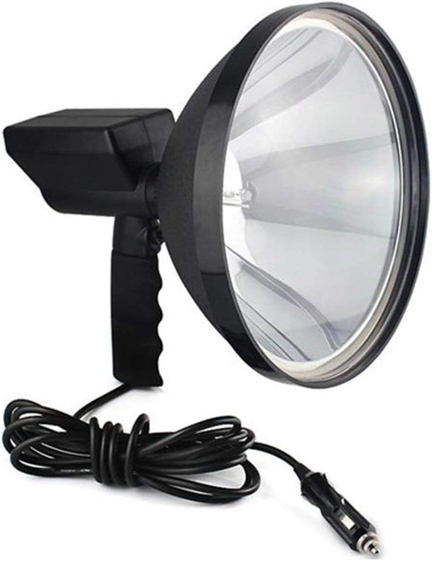 MXECO 9 Pulgadas portátil HID lámpara de xenón OCULTADA 1000W 245mm Acampar al Aire Libre Caza Pesca Pesca Spot Light Spotlight Brillo (Negro)