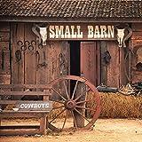 KonPon 8x8ft Seamless Vintage Barn Backdrops Cowboy Haystack Photo Background Rustic Farm Tools Photography Studio Props West Style Artistic Portrait Drop Wallpaper KP-157