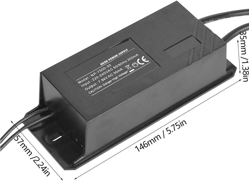 alimentatore per insegna al neon 7.5KV 30mA NP-7500-30 Trasformatore elettronico a luce al neon nessun fenomeno di migrazione del mercurio