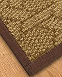 NaturalAreaRugs Uptown Natural Sisal Area Rug, Made in USA, Brown Cotton Border, Durable, Stain Resistant, Anti-Static, Environmental/Earth-Friendly (5 Feet X 8 Feet)