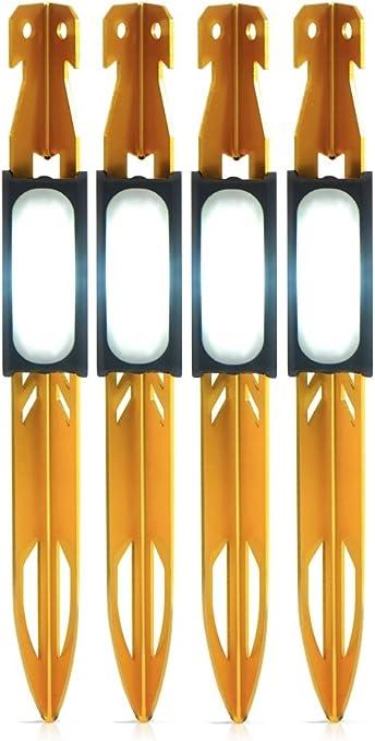 4 Stück Zelthering mit LED beleuchtet Zelten Zelt Hering
