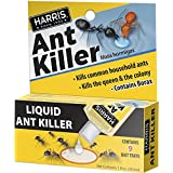 Harris Borax Liquid Ant Killer, 1oz - Includes 9 Bait Trays (1-Pack)