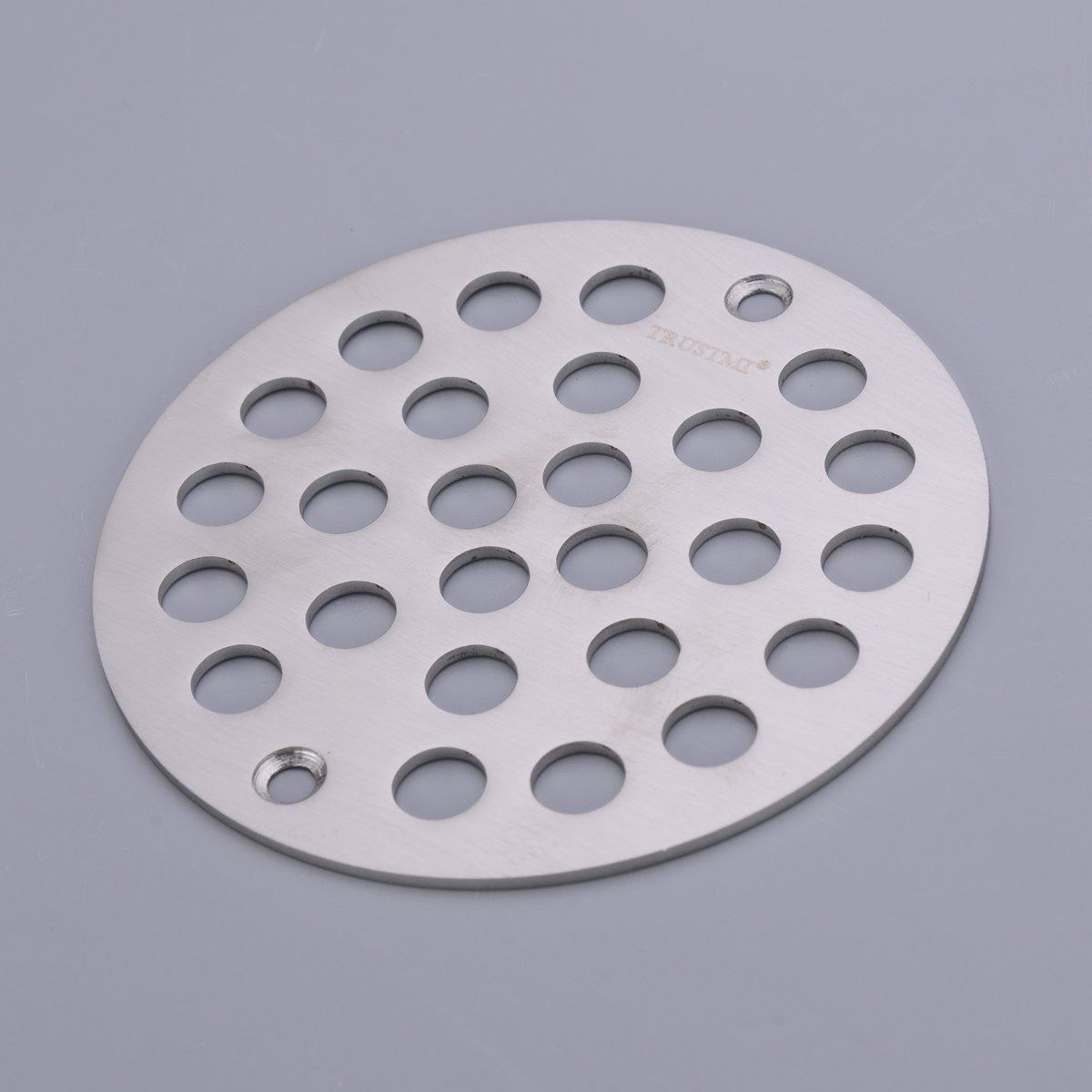 TRUSTMI 4 Inch Screw-in Shower Drain Cover Replacement Floor Strainer,Polished Chrome