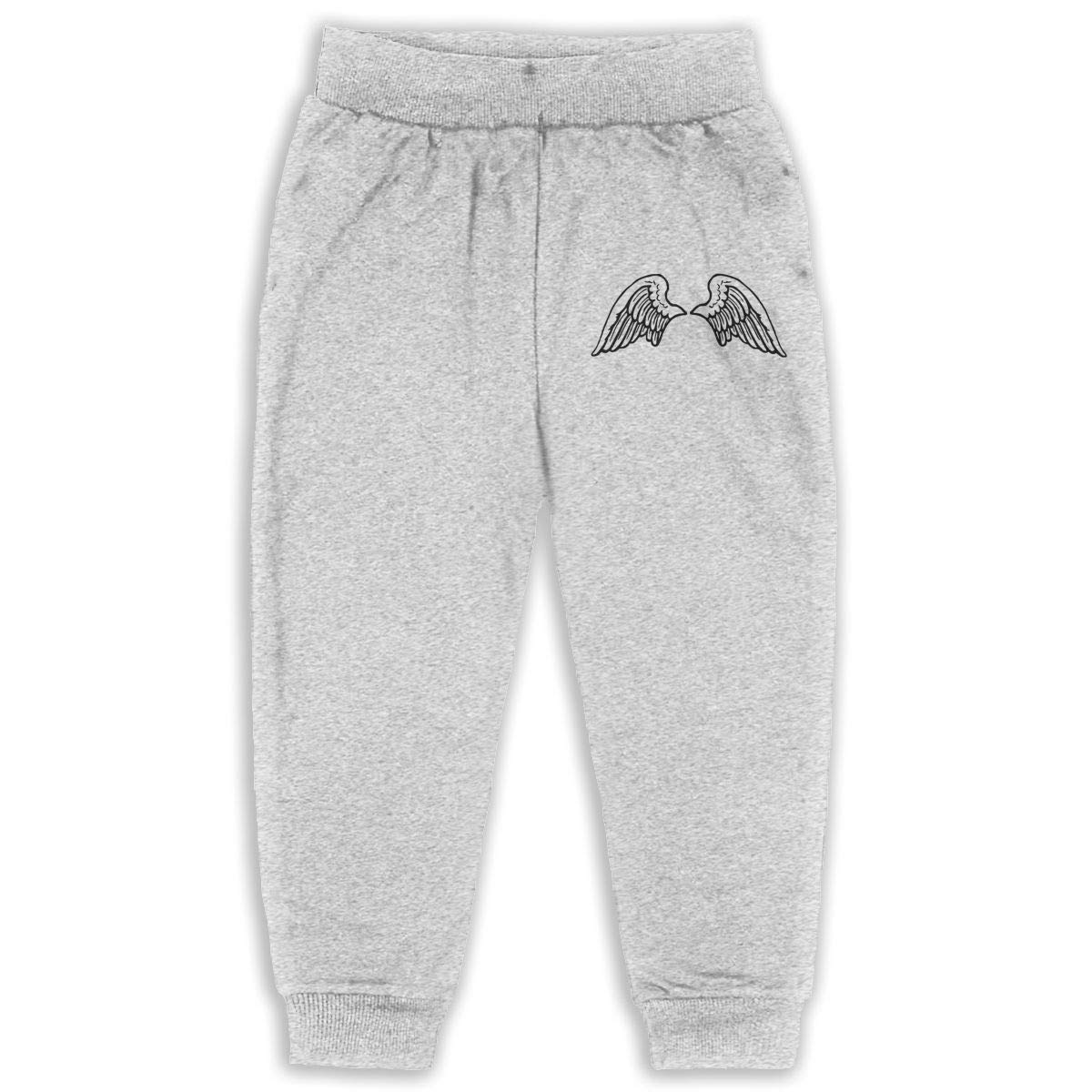 Fleece Active Joggers Elastic Pants DaXi1 Wings Sweatpants for Boys /& Girls