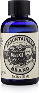 product image for Beard Oil by Mountaineer Brand (2oz) | WV Pine Tar | Premium 100% Natural Beard Conditioner