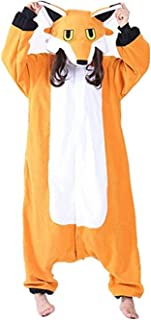 Fox Onesie Animal Cosplay Costume Adult Teens Pajamas Halloween Xmas Gift