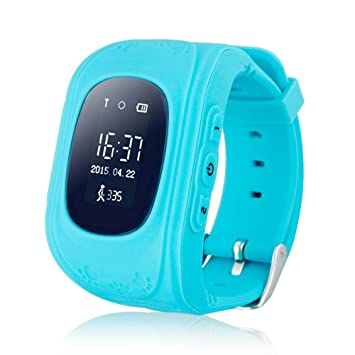 Teléfono inteligente reloj niños Kid reloj de pulsera Q50 GSM GPRS ...