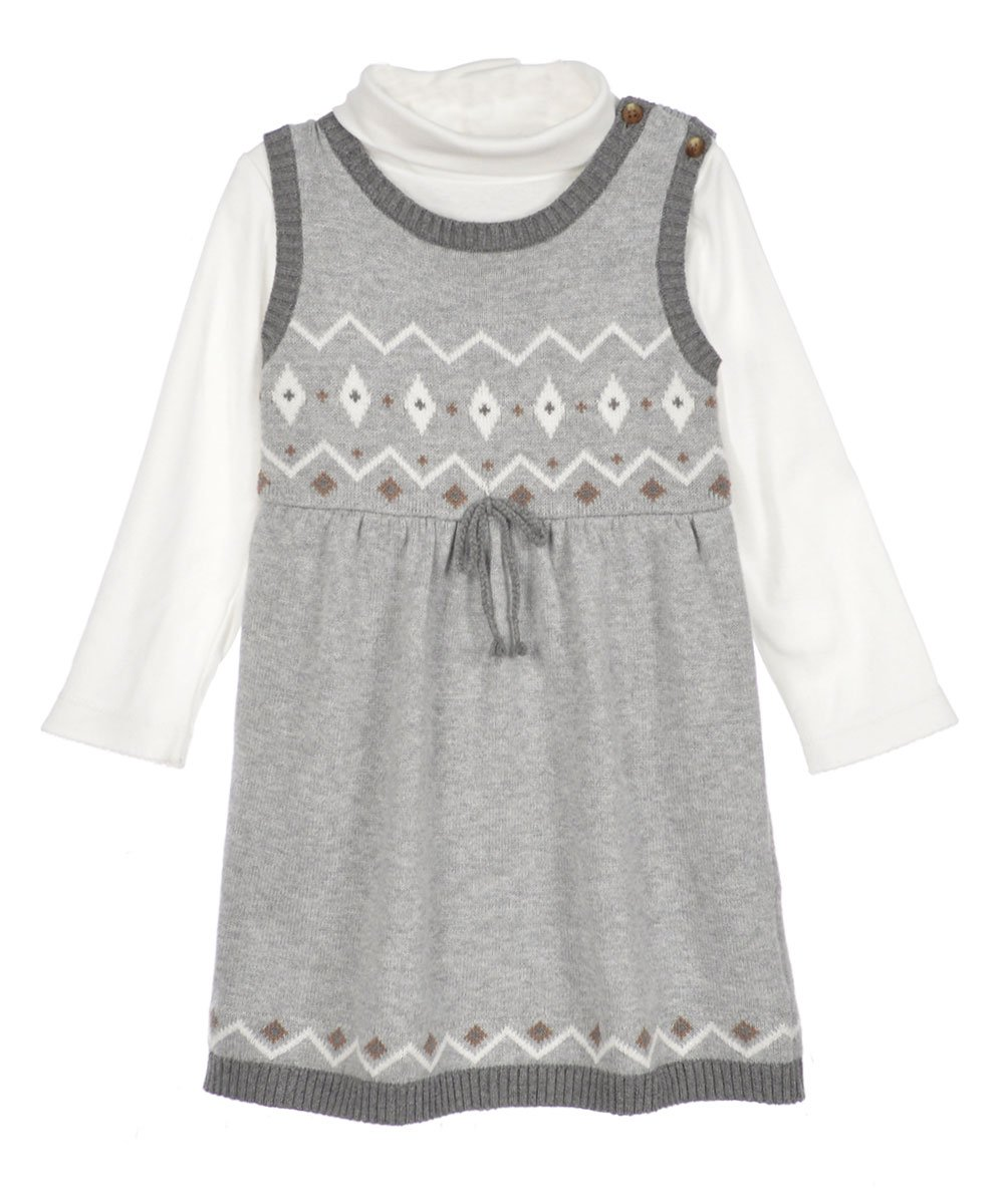 Amazon.com  Carters Baby Girls 2-Piece Sweater Dress Set Grey 12M  Baby 7120c75e4