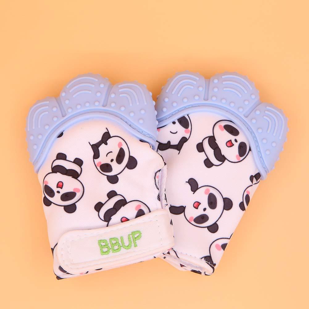 Bei/ßhandschuh f/ür Babys Baby-Bei/ßringspielzeug/… Blau 2er-Pack Silikon-Bei/ßringhandschuh in Lebensmittelqualit/ät