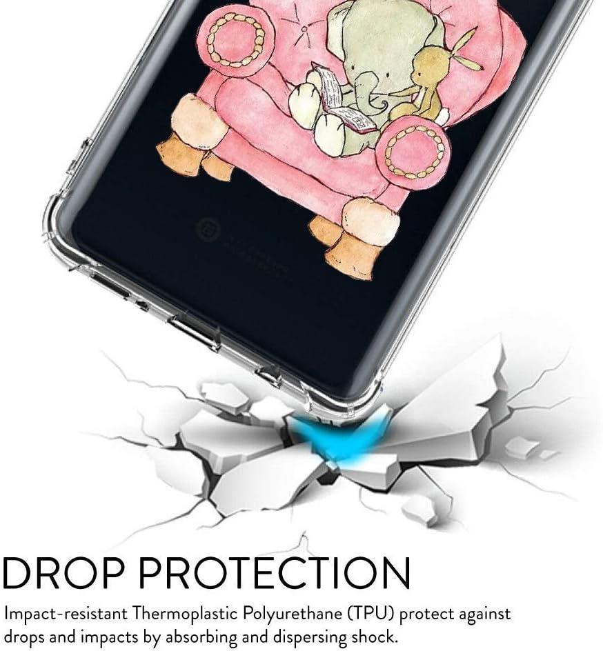Oihxse Crystal Coque pour Xiaomi Mi 8 Lite Transparent Silicone TPU Etui Air Cushion Coin avec Motif [Elephant Lapin] Housse Antichoc Protection Bumper Cover (A13) A3