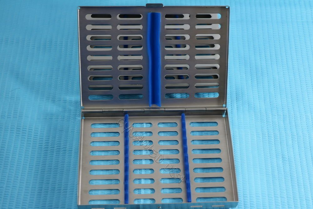10 DENTAL AUTOCLAVE STERILIZATION CASSETTE RACK BOX TRAY FOR 10 INSTRUMENT BLUE ( CYNAMED ) by CYNAMED (Image #3)