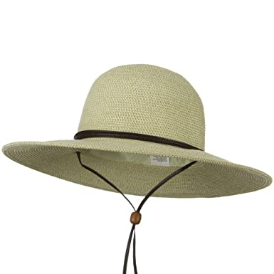a2a8d1435 Jeanne Simmons Flat 4 Inches Brim Straw Hat - White Tweed at Amazon ...