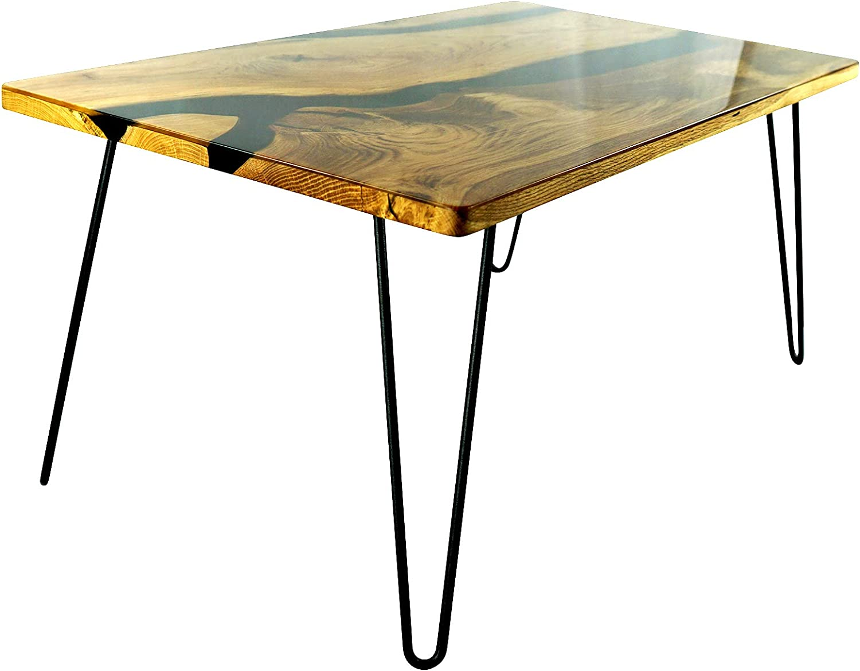 Woodpecker - Mesa de café (madera y resina epoxi)