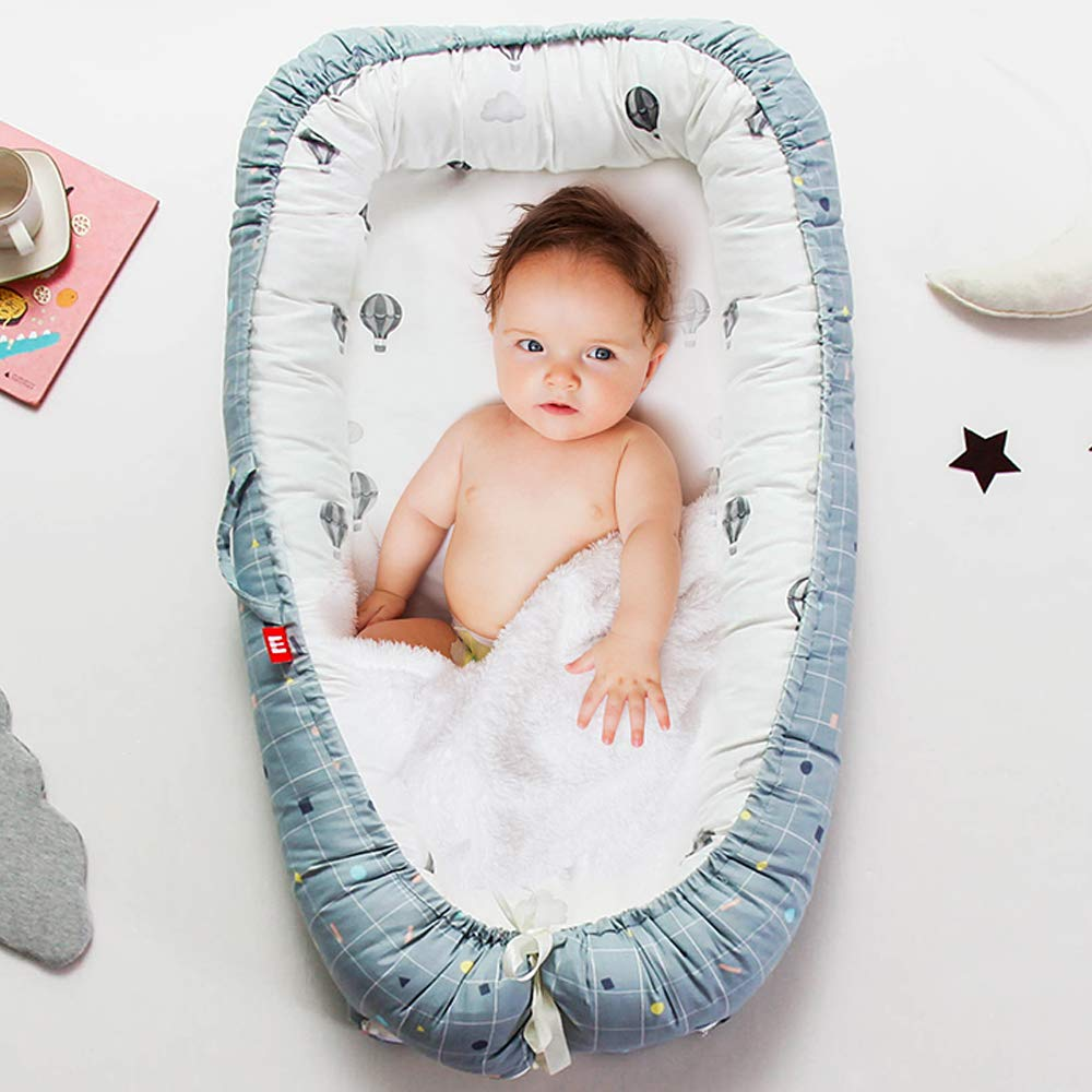 Brandream Baby Lounger Baby Nest Sharing Co Sleeping Baby Bassinet 100/% Soft Cotton Cosleeping Baby Bed Breathable /& Hypoallergenic Portable Crib Watercolor Rose