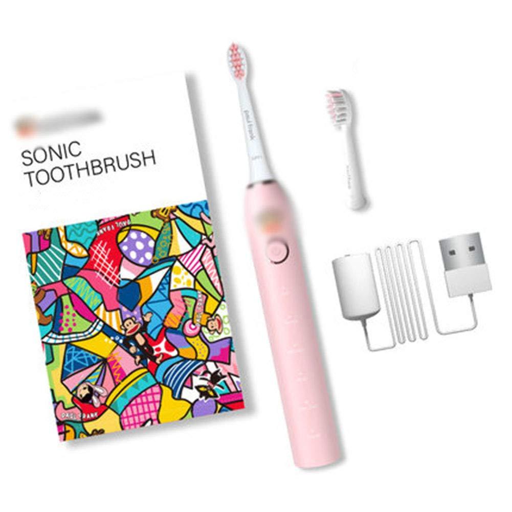 タイマー付き大人用充電式防水電動歯ブラシ歯医者さんのUSB充電歯ホワイトニングのようなあなたの歯,A B07SHLZGCJ A