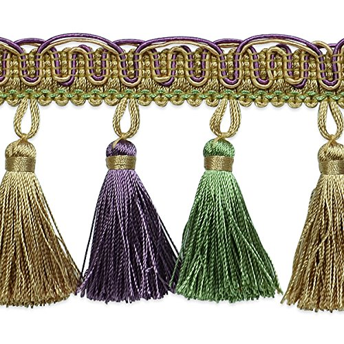 Expo International Tory Petite Tassel Fringe Trim Embellishment, 20-Yard, Lavender/Celadon by Expo International Inc.