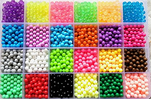 Vytung Water Fuse Beads Kit-3600 Beads 24 Colors(6 Jewel) Mega Bead Refill Beads for Kids Beginners Activity Pack(3600 Beads Refill Pack)