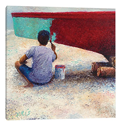 iCanvasART My Thai Boat Painter Canvas Print by Iris Scott, 37'' x 0.75'' x 37'' by iCanvasART