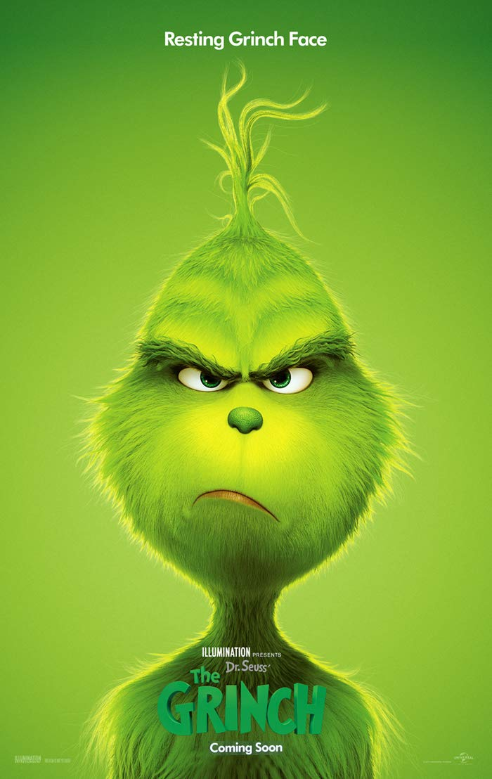 THE GRINCH MOVIE POSTER 2 Sided ORIGINAL Version C 27x40 DR. SEUSS BENEDICT CUMBERBATCH