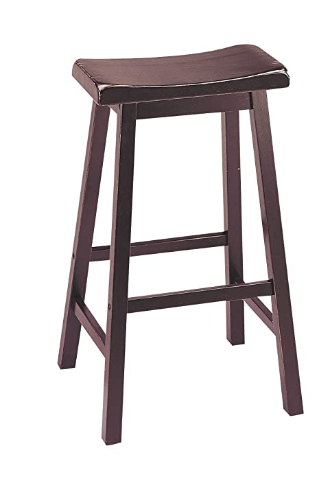 ACME 07306 Set of 2 Gaucho Saddle Stool 29u0026quot;H Walnut Finish  sc 1 st  Amazon.com & Amazon.com: ACME 07306 Set of 2 Gaucho Saddle Stool 29