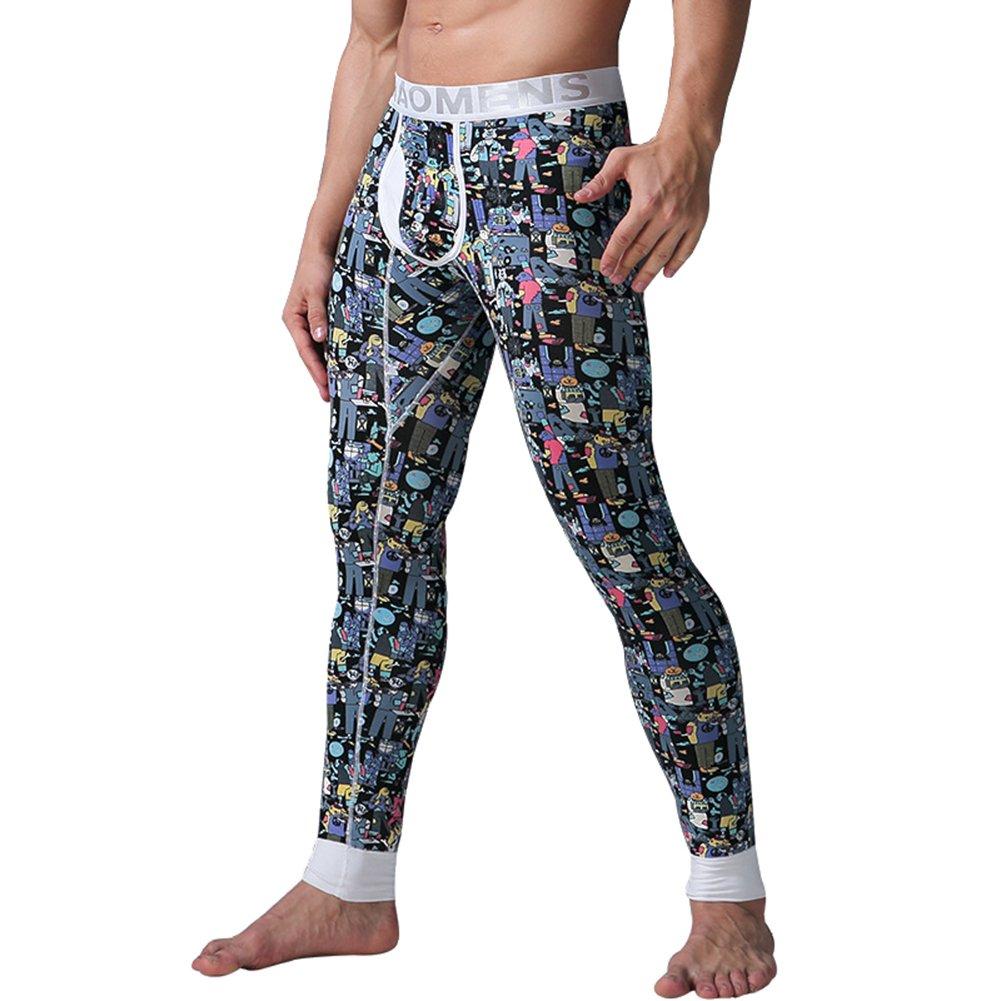 Juleya Uomo Pantaloni Termici - Invernale Calda Calzamaglia Johns Lunga Modale Sottile Legging Confortevole Cotone Baselayer Sportivi Pantaloni per Uomo M-XXL Z171203A4-J