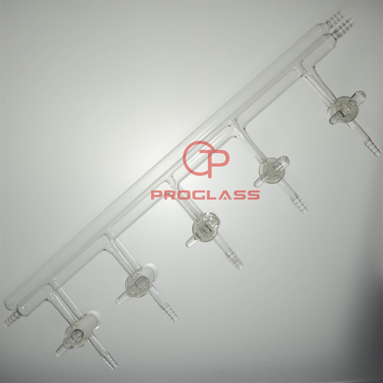 Proglass Manifold,Vacuum/Inert Gas,high Vacuum Hollow Glass stopcocks by PROGLASS