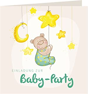 12 Einladungskarten Baby Party U201eBäru201c | Inkl. 12 Briefumschläge | Einladungen  Baby