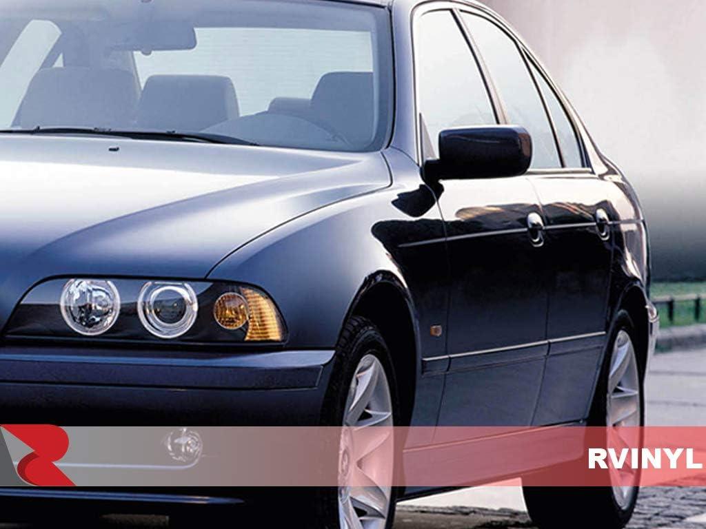Black Carbon Fiber 3D Rvinyl Rtrim Pillar Post Decal Trim for BMW 5-Series 1998-2003