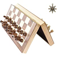 """HOWADE Chess Set 12""""x12"""" inch Wooden Board Game Magnetic Chess Handmade Crafted Chessmen Travel International Board Games"""