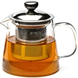 Teabox Urban Glass Teapot with Removable Stainless Steel Infuser and Lid for Loose Leaf Tea 500 ml