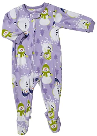Image Unavailable. Image not available for. Color  Carter s Girls Fleece  Footed Pajama Purple Snowman ... f0681f6ef