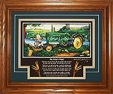 John Deere Model B Late-styled 1947-1952 FP (The Farmer's Prayer) Tractor Pictures Wall Decor Framed Art Farmer Gift