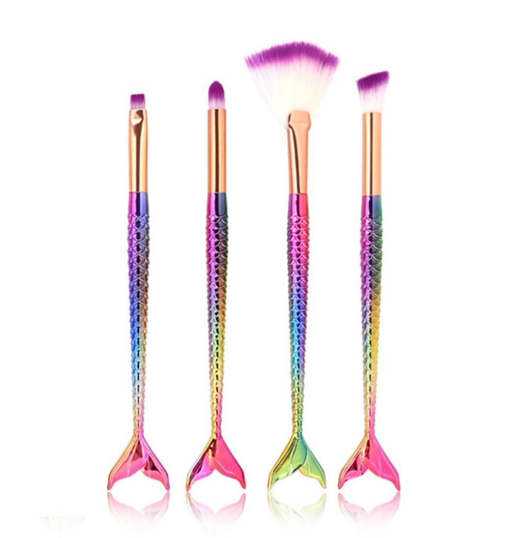 4PCS Make Up Foundation Eyebrow Eyeliner Blush Cosmetic Concealer Brushes