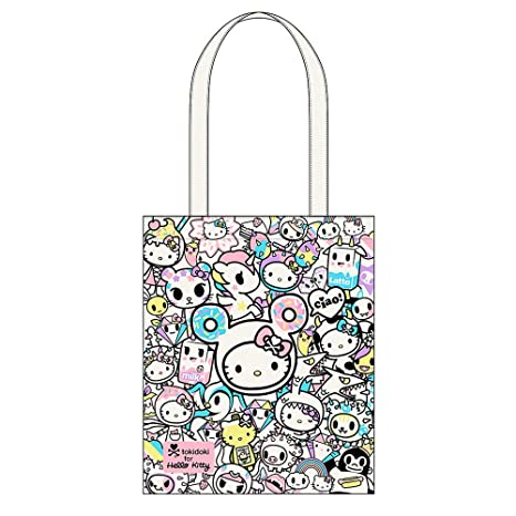 2c782aebf Amazon.com: Tokidoki x Hello Kitty Slim Canvas Tote Bag Fashion Bag: HELLO  DISCOUNT STORE