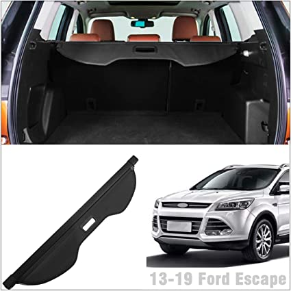 Autoxrun Retractable Cargo Cover Luggage Security Shade Cover/Black Fit 2013-2019 Ford Escape Kuga