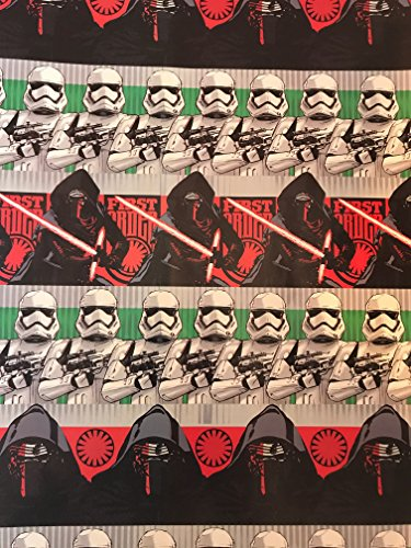 Disney Costumes Related (Disney Star Wars Christmas Wrapping Paper- Star Wars Wrapping Paper - Featuring: DARTH VADER, BB8, STORM TROOPERS, CHEWBACCA, R2D2 - 1 Roll (Star Wars First Order)