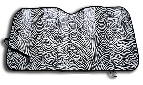 Windshield Sunshade Protects Uv Rays   Zebra Print Auto Window Screen Visor Heat Blocker   Universal Fit Sun Shade For Car  Truck  Suv  Van