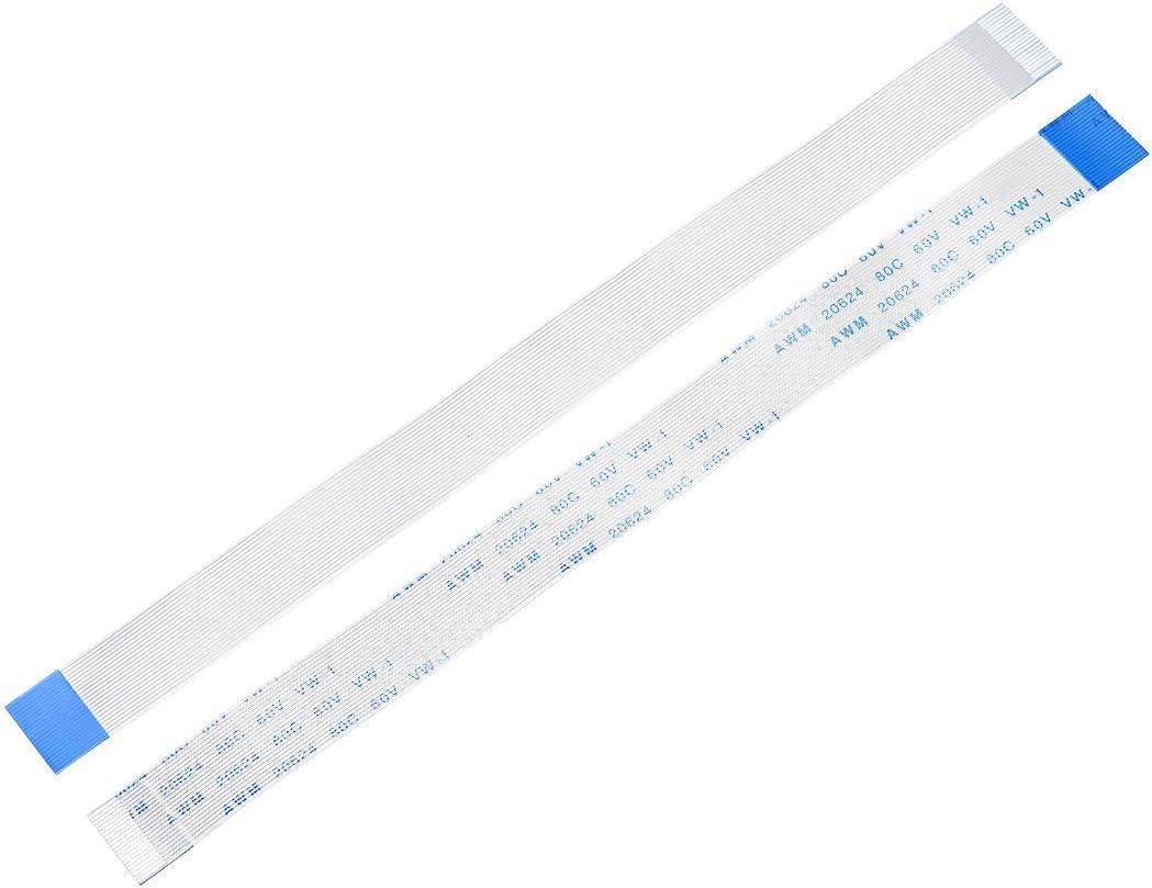 sourcing map C/âble Plat Flexible 7 Broches 0.5mm Pas 150mm FPC FFC C/âble Ruban 5Pcs B Type