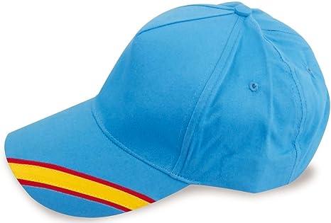Gorra Celeste Bandera de España Regulable, Padel, Golf.: Amazon.es: Ropa y accesorios
