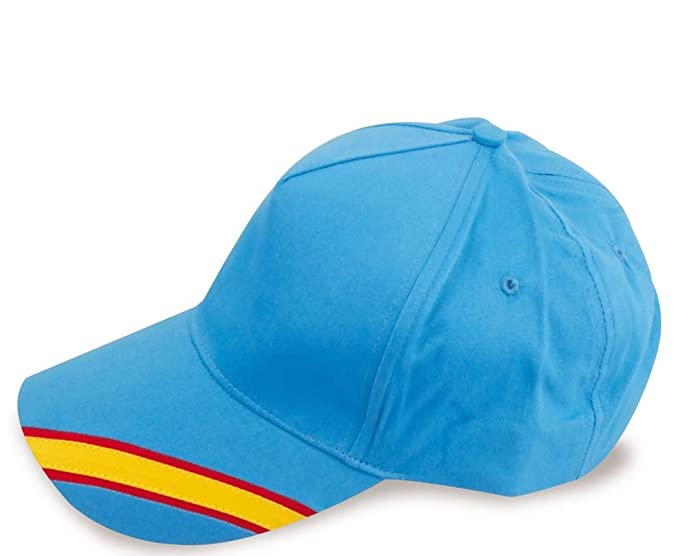 crisandecor Gorra Celeste Bandera de España Regulable, Padel, Golf.: Amazon.es: Ropa y accesorios