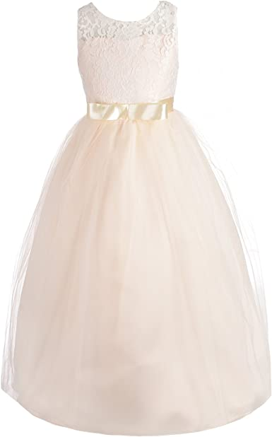 Girls Floral Chiffon Fully Lined Dress With thin Belt Age 2-12 Years