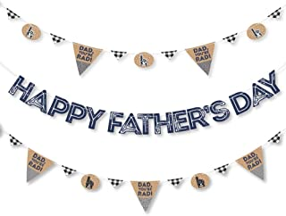 product image for Big Dot of Happiness My Dad is Rad - Father's Day Letter Banner Decoration - 36 Banner Cutouts and Happy Father's Day Banner Letters