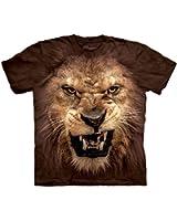 The Mountain Enfant Grosse Tête De Lion Rugissant T Shirt