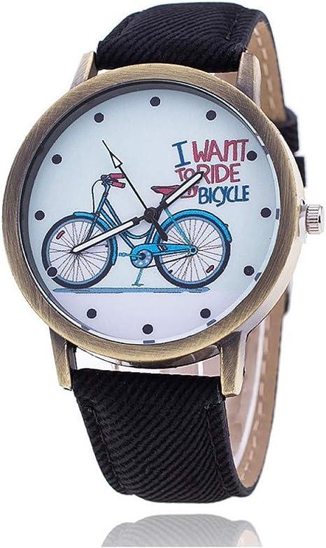 QIADS Relojes Sencillo Reloj De Bicicleta Un Regalo De Cumpleaños ...