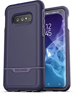 Encased Protective Galaxy S10e Case Purple (2019 Rebel Armor) Military Grade Heavy Duty Full Body Cover (Samsung Galaxy S10 E)